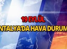 19 Eylül 2018 Antalya hava durumu