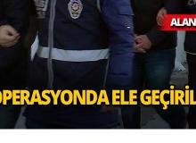 Alanya'da operasyon : 2 şüpheli gözaltına alındı