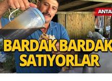 Antalya'da çuvallarla getirip satıyorlar