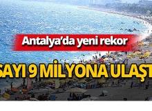 Antalya'da yeni rekor