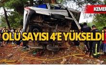Antalya'daki kazada ölü sayısı 4'e yükseldi