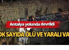 Antalya yolunda feci kaza : Çok sayıda ölü ve yaralı var