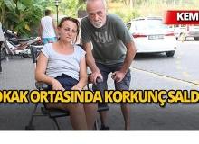Kemer'de yaşlı çifti hastanelik ettiler!