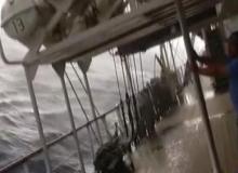 Yolcu gemisinde korku dolu anlar