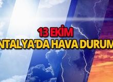 13 Ekim 2018 Antalya hava durumu