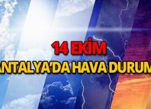 14 Ekim 2018 Antalya hava durumu