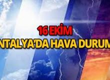 16 Ekim 2018 Antalya hava durumu