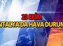 23 Ekim 2018 Antalya hava durumu