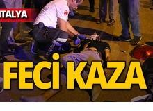Antalya'da kaza yapan kuryenin patronuna kask fırçası!