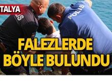 Antalya falezlerde işte böyle kurtarıldı!
