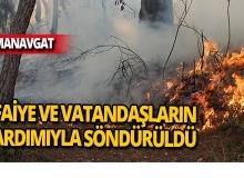 Manavgat'ta nedeni belirlenemeyen yangın!