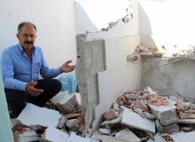 Tayini çıkan imam caminin lojmanını balyozla yıktı