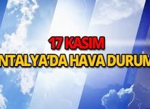 17 Kasım 2018 Antalya hava durumu