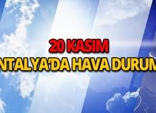 20 Kasım 2018 Antalya hava durumu