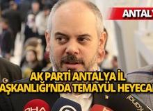 AK Parti Antalya İl Başkanlığında temayül heyecanı