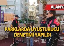 Alanya'da polisler parklarda zehirleri aradı
