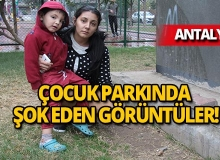 Antalya'da oğlunu parka getiren anne dehşete düştü!