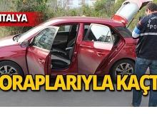 Antalya'da otomobilde ele geçirildi!