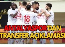 Antalyaspor'dan transfer açıklaması!
