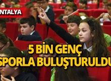 Kepez'de 5 bin genç sporla büyüyecek