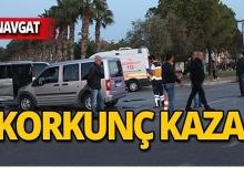 Manavgat'ta feci kaza : 9 yaralı!