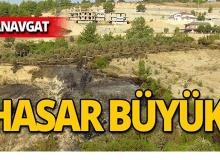 Manavgat'taki yangın büyük hasar verdi!