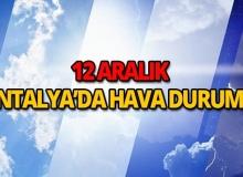 12 Aralık 2018 Antalya hava durumu