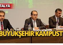 """Akdeniz Üniversitesi'nde """"Büyükşehir Kampüste"""" söyleşileri başladı"""