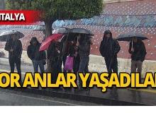 Antalya'da turizm çalışanları işte böyle çile çekti!