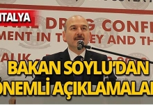 Bakan Soylu'dan uyuşturucuyla mücadele açıklaması!