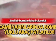 Camii yakınlarında patlama!