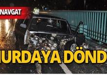 Manavgat'ta korkunç kaza : Hurdaya döndü!
