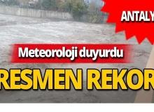 Meteoroloji açıkladı, rekor kırıldı!