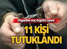 Organize suç örgütü üyesi 11 kişi tutuklandı