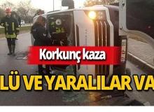 Tır ile minibüs çarpıştı: Çok sayıda ölü ve yaralı var!
