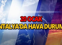 20 Ocak 2019 Antalya hava durumu