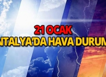 21 Ocak 2019 Antalya hava durumu
