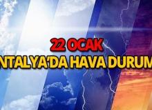 22 Ocak 2019 Antalya hava durumu