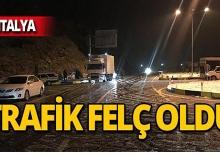 Antalya'da kar hayatı felç etti: Araçlar yolda kaldı!