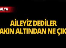 Antalya'da aile olduklarını söylediler, kıskıvrak yakalandılar!