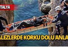 Antalya'da balık avlamak isterken falezlerden düştü!