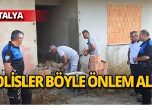 Antalya'da uyuşturucu bağımlılarına tuğlalı önlem!