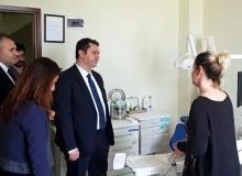 Bilge, sağlık kuruluşlarını ziyaret etti
