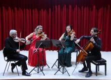 Bozok Quartet duygusal repertuvarı ile ayakta alkışlandı