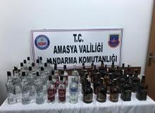 Kaçak içkiler ihbarla ele geçirildi