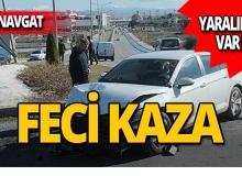 Manavgat'ta kaza: Yaralılar var!