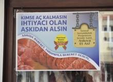 Muhtar adayından 'Askıda Et' ve 'Askıda Ekmek' kampanyası