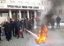 Van'da yangın eğitimi ve tatbikatı