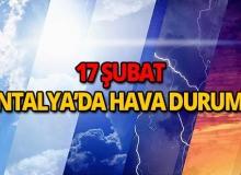 17 Şubat 2019 Antalya hava durumu