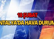 18 Şubat 2018 Antalya hava durumu